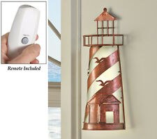 Remote Control Nautical Lighthouse Wall lamp Coastal Seagulls Coast Accent Lamp