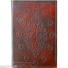 MOON GODDESS LEATHER JOURNAL Witch Wicca Pagan Book of Shadows Goth Spell