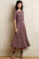 New Anthropologie Jersey Midi Dress by Bordeaux BROWN Classic Size S