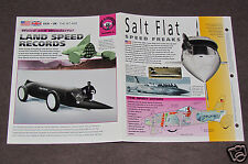 LAND SPEED RECORDS JET CARS HISTORY PHOTO BROCHURE BOOKLET Thrust Green Monster+