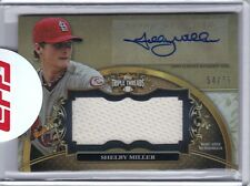 2013 Topps Triple Threads Autograph Unity Jumbo Relic Sepia Shelby Miller 54/75