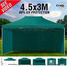 99% UV 3x4.5m Pop Up GAZEBO GREEN Outdoor Canopy Tent Folding Marquee Party