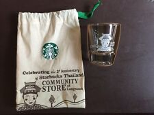 Starbucks Muan Jai Blend SHOT GLASS THAILAND LIMITED w/ Matching Pouch (No Card)