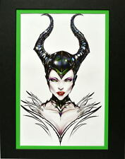 MALIFICENT PRINT PROFESSIONALLY MATTED Jamie Tyndall Disney