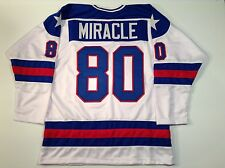 1980 Miracle On Ice USA Hockey White UNSIGNED CUSTOM Jersey Size 2XL