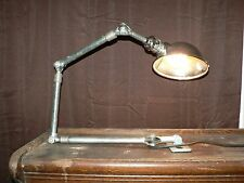 Vtg AJUSCO Industrial Machinist Shop Factory Lamp USA articulating Light 852