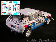 Decal 1:43 Peugeot 205 T16 Seppo Niittymäki 1987 Rallycross