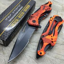 Tac-Force Red Orange Hunting Outdoor Camping Can Opener Pocket  Knife TF-705OR