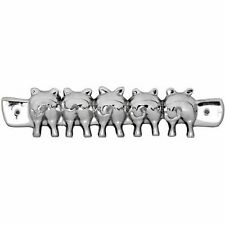 KEY HOOKS CHROME SILVER 'PIG TAILS'  HOLDER 5  HOOKS KEYS COATS WALL HANGING
