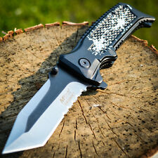 """8"""" SPRING ASSISTED OPEN Tanto Blade FOLDING POCKET KNIFE Bowie Combat Switch"""
