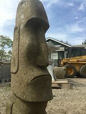 Moai statue carving solid stone easter island Javanese, not cast