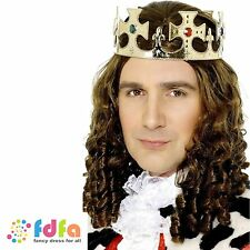 GOLD JEWELLED KINGS CROWN MEDIEVAL NATIVITY - mens fancy dress costume