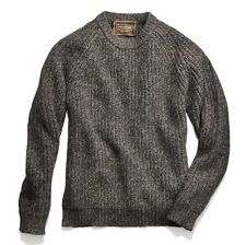COACH men's crew neck raglan armhole long sleeves sweater, size L, brown marled