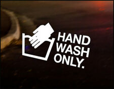 HAND WASH ONLY JDM Decal vinyl sticker, VW Japan Euro Drift Audi Funny
