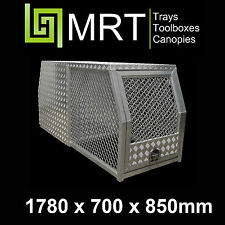 ALUMINIUM UTE DOG CAGE /TOOLBOX- 4X4 HUNTING PIGGING - 1780* 700*850mm - MRT25C