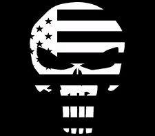Skull Punisher USA Flag Funny Vinyl Decal Sticker Car Truck ATV Boat Window