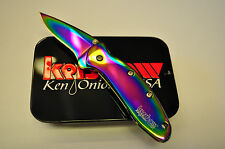 KERSHAW KNIFE  Rainbow Chive Folding Knife #1600VIB