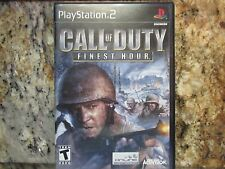 Call of Duty: Finest Hour (Sony Playstation 2 PS2) Video Game