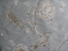 "ZOFFANY CURTAIN FABRIC DESIGN ""Woodville Silk "" 2.2 METRES ICE FLOES 100% SILK"