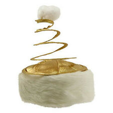 Santa Claus Hat GOLD COIL TWISTED Xmas Christmas Holiday Cap FREE SHIP Brand New
