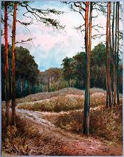 Große Waldlichtung Aquarell 1941 Paul Groß (1873-1942 Dresden) Neue Sachlichkeit