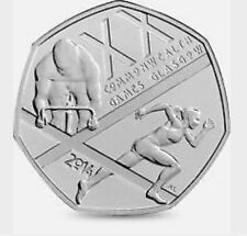 2014 50P COIN COMMONWEALTH GAMES GLASGOW RARE FIFTY PENCE UNCIRCULATED (g)