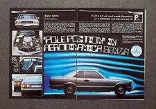 AH44 - Clipping-Ritaglio -1981- MERCEDES SERIE S COUPE'