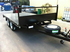 Table Top Flat bed Trailer TANDEM AXLE 3.5X2150 DECK 2T ROLLER ROCKER SPRINGS