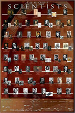 FAMOUS SCIENTISTS THROUGH HISTORY 54 Heroes Educational Wall Chart POSTER