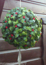 Quality Large Topiary Hanging Holly Berry Ball Indoor Outdoor Garden Christmas
