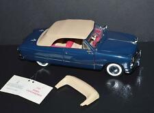 Franklin Mint 1/24 Die Cast Car 1949 Ford Convertible Dark Blue, beige& pink int