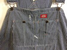 MENS DICKIES STRIPED CARPENTER  OVERALLS SIZE 52 X 32