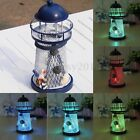 Mediterranean iron lighthouse craft ornaments Ocean Home Decor with LED Light
