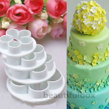 4Pcs Rose Flower Fondant Cake Cutters Decorating Sugarcraft Mould DIY Tools