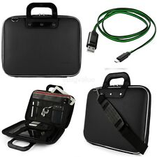 Black Messenger Shoulder Bag for Lenovo Yoga Tab 3 Pro / MIIX 700 12-In +Cable