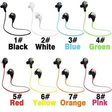 PINK Bluetooth Earbuds Headphones iPhone Galaxy Wireless Stereo Running Headset