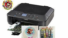 Canon MG5520 BK- Wireless Edible Printer Bundle - Ink & Edible Sheets Included