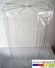 Bad Wanne SET Duschspinne + Duschvorhang VINYL - klar - durchsichtig - 33,95 €