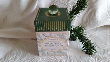 Winter Botanicals Mixed Pine & Cedar Wreath Candle in Musical Box ~New