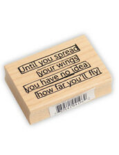 Rubber Stamp Mounted Inspirational Stamp NEW Scrapbooking Quote Stamp Stamping