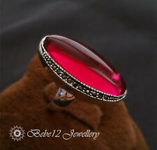 Crystal Ring/Ruby/Green color Oval Large Stone/Swarovski ElementsRGR073