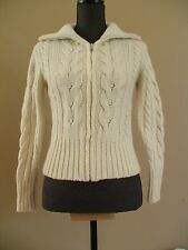 BANANA REPUBLIC Sweater Cardigan Fisherman Sz: S Womens Warm Knit Soft Zippered
