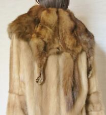 Mink Full Pelts Fur Coat with Sable Collar  sz.M-L 10-12US