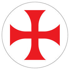 2 x Knights Templar Symbol historical car, van decal sticker