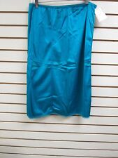 "Ventura Plus Size Nylon Half Slip 29"" Long - 3X TEAL #7746A - NWT"