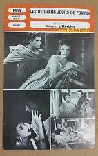 Les Derniers Jours de Pompei Last Days of Pompei French Film Trade Card