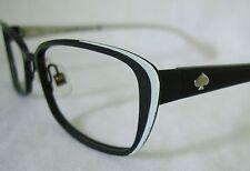 Kate Spade LIDIA 0W44 Black and Ivory Eyeglasses Frame 52-16 Ladies' Small