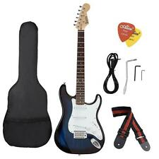 New ST Full Size Electric Guitar for Beginners+ Gig Bag Picks Strap B4N1