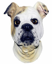 Bulldog Mask Dog Latex Overhead British Animal Fancy Dress Canine Halloween