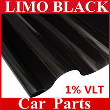 "20""x20FT Ultra Limo Black Window Tint Film VLT 1% Auto Car House Roll 50cm*6M"